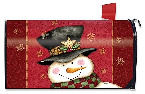 Briarwood Lane Holly Jolly Snowman Christmas Magnetic Mailbox Cover Holiday Standard