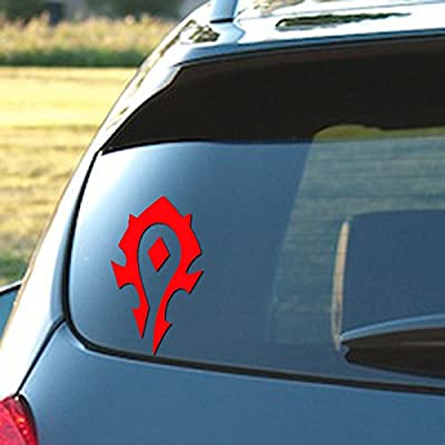 """Signage Cafe World of Warcraft Horde - Vinyl Decal, 3.5"""" x 6"""" in a Variety of Color Options (Red): Automotive"""