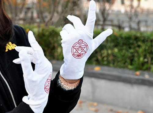 (1 X Anime Cosplay Fullmetal Alchemist Gloves Colonel Roy Mustang Edward Elric Accessories)