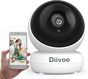 WiFi Security Camera Indoor with Mobile APP for Home Security System, 1080P Night Vision, 2 Way Audio,Motion Detection