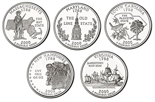 2000 P, D BU Statehood Quarters - 10 coin Set Uncirculated