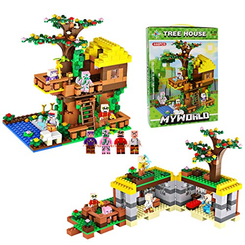 GGIENRUI Jungle Tree House 445pcs 2 in 1 Model Tree House Building Blocks for Kids - Jungle Tree House