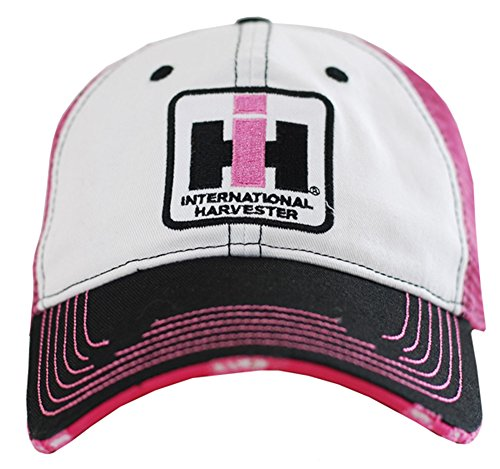 Case IH Two Tone Distressed Trucker Cap Womens Pink from 540Brands