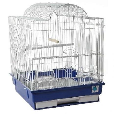 PATTI Cromado Diseño de periquito Canario o pájaros Jaula de ...