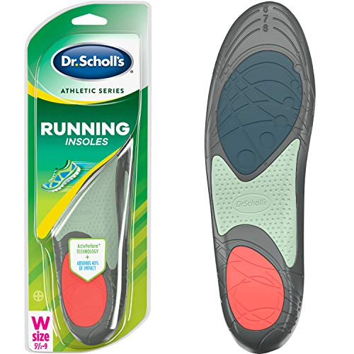 Dr. Scholl's RUNNING Insoles // Reduce Shock and Prevent Common Running Injuries: Runner's Knee, Plantar Fasciitis and Shin Splints (for Women's 5.5-9, also available for Men's 7.5-10 & Men's 10.5-14) (Best Tennis Shoes For Knee Problems)