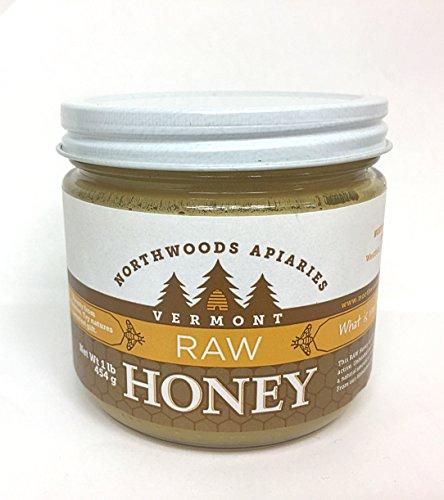 Vermont Raw Honey, 1 lb round jar (Valley Champlain Honey)