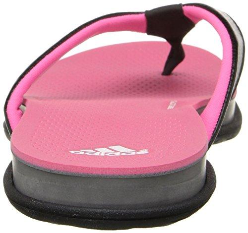 Adidas Performance Plus Supercloud Thong W Atlética de la sandalia, negro / gris medio / plata, 5 M Black/Solar Pink/Grey