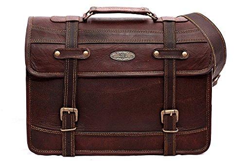 Camel Skin Messenger Bag - 5