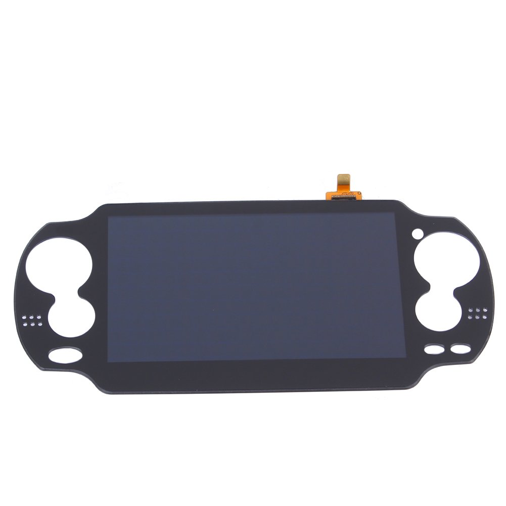 Alloet New Digital LCD Display with Touch Screen Assembly Replacement with Frame for PS Vita PSVita 1000 Black by Alloet (Image #1)