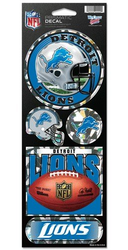Detroit Lions 5 Pack of Stickers - Holographic Cracked Ice Design