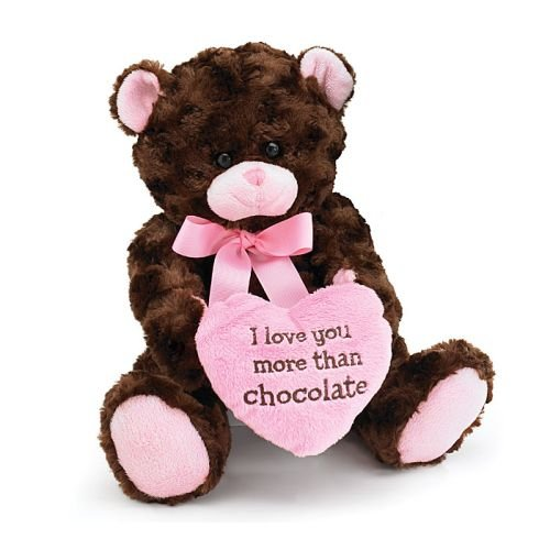 I Love you More Than Chocolate Valentines Day Heart Teddy Be