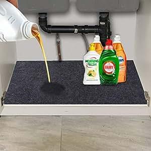 Amazon Com Under The Sink Mat Kitchen Tray Drip Cabinet