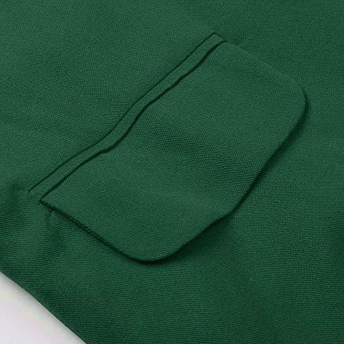Morwind Maniche Giubbotto Donne Giacche A Cappotto Unita Aperto Cappotti Donne Cardigan Tinta Per Lunghe Tuta Moda Ragazza Invernale Fronte Cappotto Lunghi Inverno Sportiva Green Donna Lunghe rrdwZq7