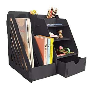 Amazon Com Minedecor Wood Desk Organizer Drawer Trays