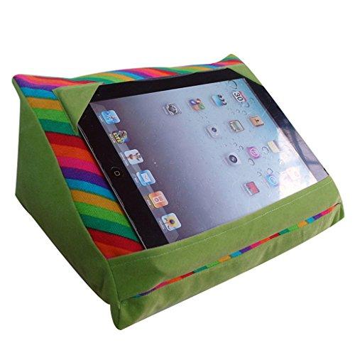 Halovie- Tablet-Halter Kissen 30 * 21 * 14 cm Ereader / Tabelle / Telefon für Bett stehen mit Taschen Hinter freihändige Lesen