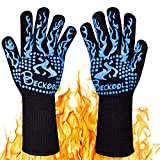 Beckool Heat Resistant BBQ Gloves, Barbecue Accessories Oven Mitts 932 Kitchen, Cooking, Grilling, Baking