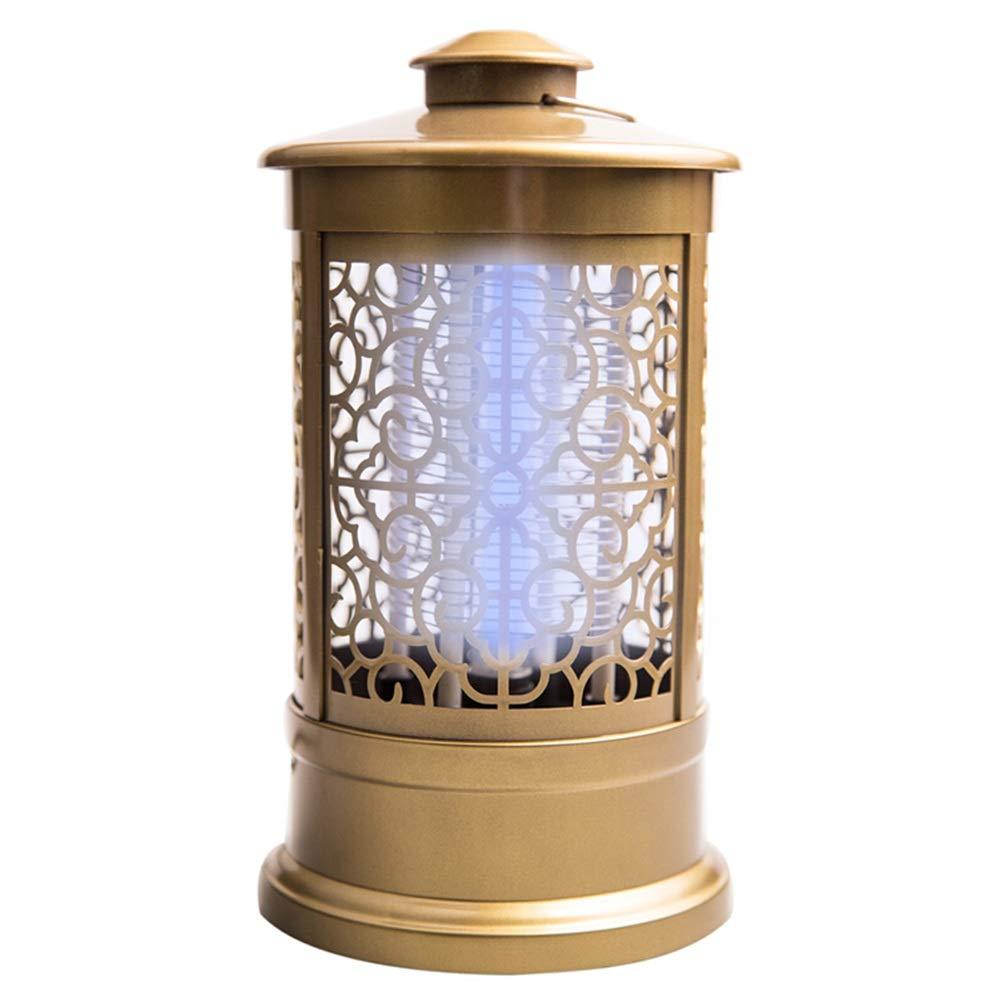 Lampada Anti Zanzara -Assassino Elettronico Dell'interno, Zanzariera, LED Killer Funzionamento Silenzioso, Nessuna Lampada Anti-zanzara per Le Radiazioni JINRONG (colore   oro)