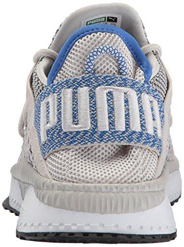 Puma Mannen Tsugi Netfit Sneaker Grijs Violet-lapis Blauw-puma Wit