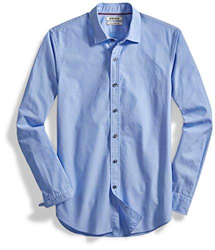 Goodthreads Men's Slim-Fit Long-Sleeve Solid Poplin Shirt