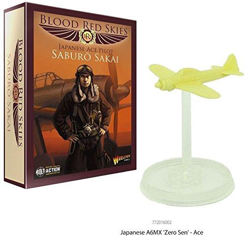 Blood Red Skies Japanese Ace Pilot Saburo Sakai 1:200 A6MX Zero` WWII Mass Air Combat War Game Warlord Games 772016002