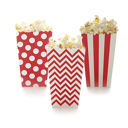 Famoby 36 pcs red Movie party Paper Popcorn (Circus Themed Baby Shower)