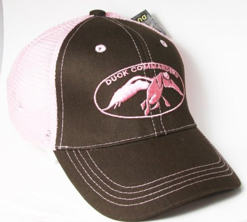 Duck Dynasty Officially Licensed Hunting Hats Cap - Several Styles Available (Duck Commander - Pink & Brown (Dynasty Mesh)