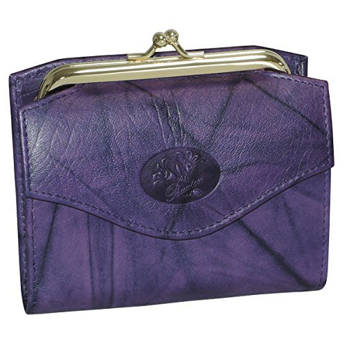 Buxton Heiress French Purse Wallet (Mulberry Purple)