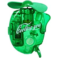 Sbeauty Portable Mini Fan Water Spray Cool Mist Summer Beach Cooling Fan (Green)