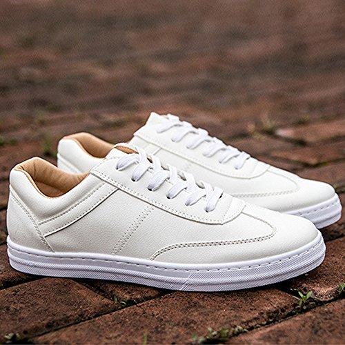 Basse Casual PU Uomo ZX in Scarpe e Pelle Sportive Bianco Nero in Pelle Bianca Piatte Sneakers in per Mocassini Sneakers q7qvg