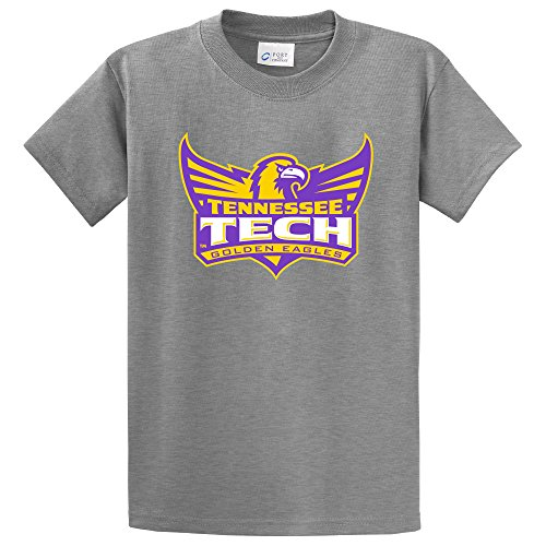 Tennessee Tech Eagles (NCAA Tennessee Tech Golden Eagles Short Sleeve Tee, Large, Athletic Heather)