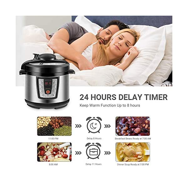 REDMOND Electric Pressure Cooker,5 Quart Multicooker 6-in-1 Multi-Use Programmable for Slow Cooker, Rice Cooker, Sauté… 4
