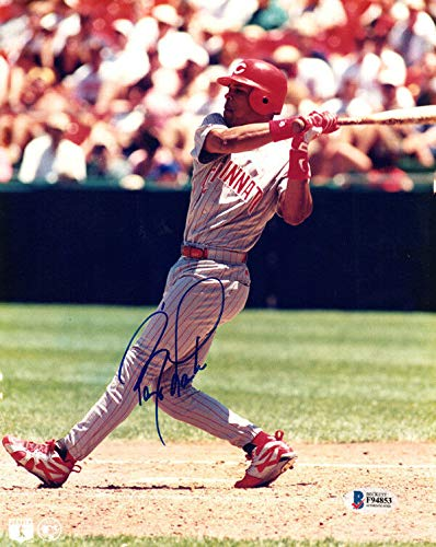 Ken Griffey Sr Signed 8.5 X 11 Picture Autographed Cincinnati Reds