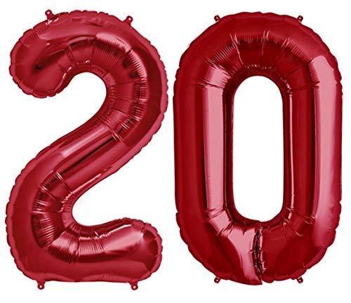 Tellpet Red Number 20 Balloon, 40 -