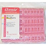 Annie Snap on Rollers 1 1/8' Pink 8pack