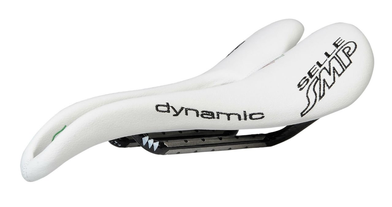Selle SMP Dynamic Bicycle Saddle Seat - Carbon Rails - White Made in Italy
