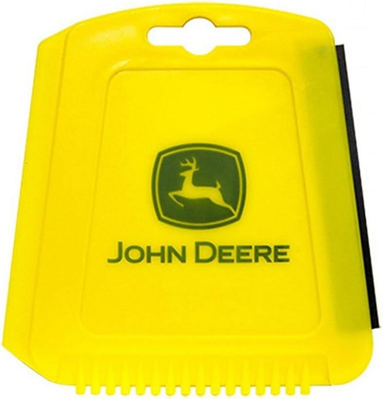 Plasticolor John Deere 3-in-1 Ice Scraper Yellow