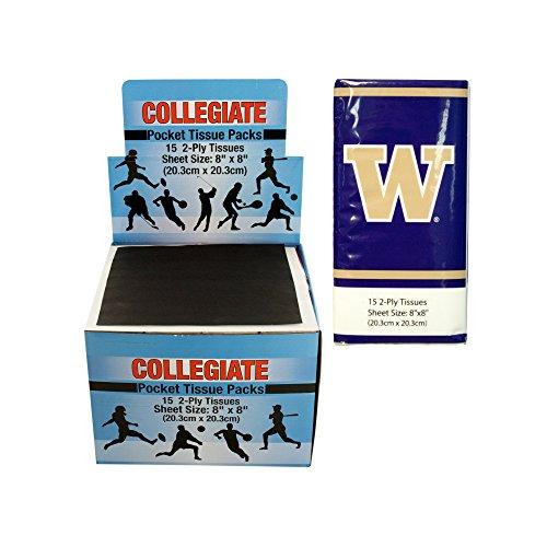 Kole Imports Washington Huskies Pocket Tissues Countertop Display