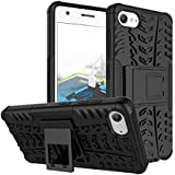 Tarkan Lenovo Z2 Plus Case Hard Armour Hybrid Bumper Flip Stand Rugged Back Cover [Zuk Z2] [Black]