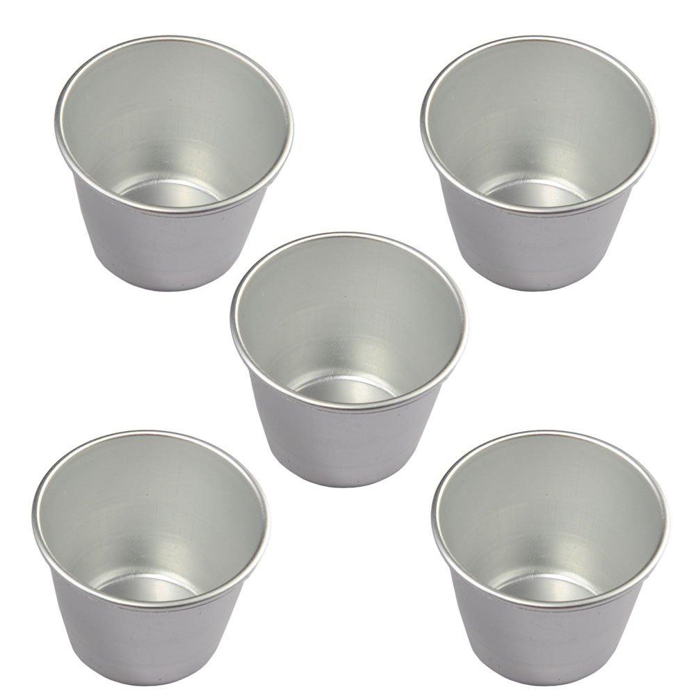 5Pcs a set Da.Wa Baking Cups Aluminum material cup cake mold Pudding cups