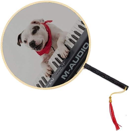 A Fuuny Dog Play The Piano Ventilador antiguo chino Clásico ...