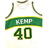 Shawn Kemp Signed Autographed Jersey FSG Authenticated White/Green