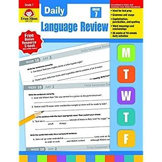 Evan-Moor Daily Language Review, Grade 7 Teacher's Edition - Supplemental Teaching Resource Workbook, 36 Weeks of Lessons