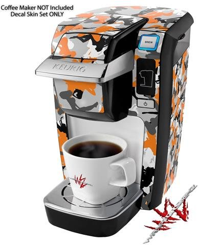 Sexy Girl Silhouette Camo Orange - Decal Style Vinyl Skin fits Keurig K10 / K15 Mini Plus Coffee Makers (KEURIG NOT INCLUDED) by WraptorSkinz (Image #1)