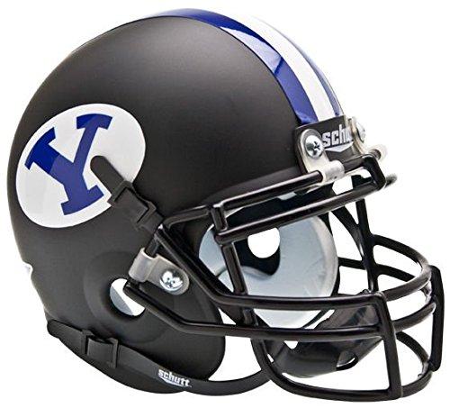 NCAA BYU Cougars Collectible Alt Mini Helmet, Matte Black Cougars Helmet