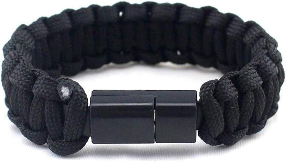 AJIAO Brazalete USBCable De Carga del Teléfono Pulsera para Hombres