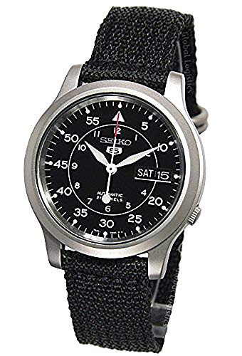 Seiko Men's SNK809 Seiko 5 Automatic Stainless Steel Watch with Black Canvas ()