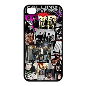 Falling In Reverse Pattern Design Solid Rubber Customized Cover Case for iPhone 4 4s 4s-linda155