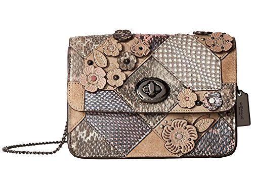 COACH Women's Patchwork Snake Bowery Crossbody Dk/Multicolor One - Handbags Multicolor Coach