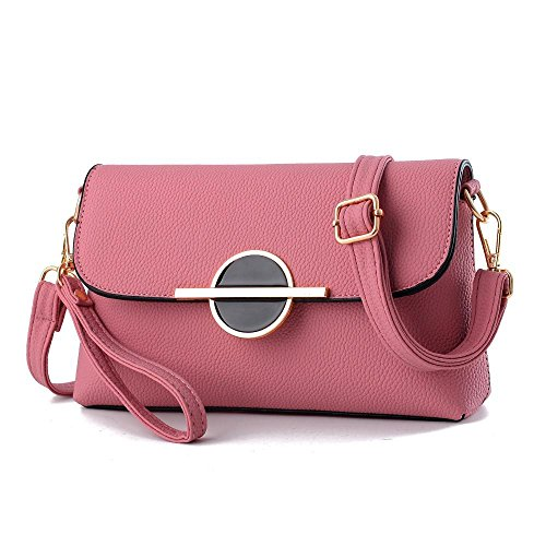 Aoligei Europe And The United States Women Handbag Fashion Handbags Lot Pure Color Women Pu Bag Skewed I