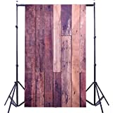 DODOING 3x5ft Wooden Wall Photography Background Vintga Wood Wall Photo Backdrop for Photography Studio Props 0.9x1.5m